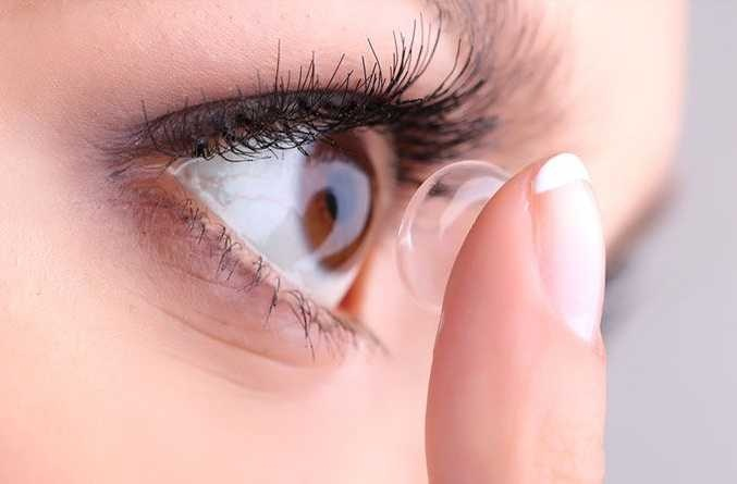 What is the basic purpose of using contact lenses?