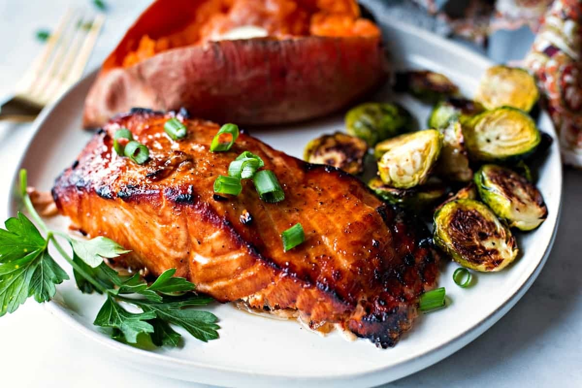 Grilled salmon easy and healthy for your perfect life