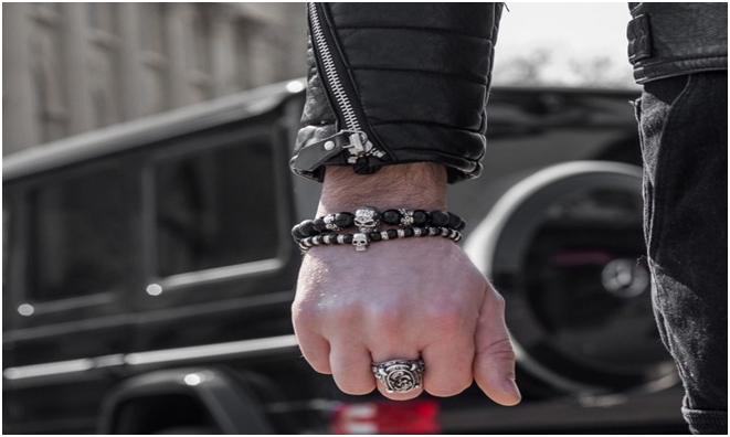 The Ultimate Bad Boy Wears Skull Bracelets