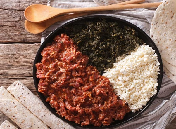 how to make An Ethiopian food called kitfo?