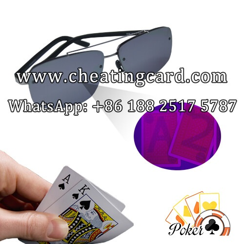 Emerge a Winner in Poker adorning stylish Marked cards sunglasses