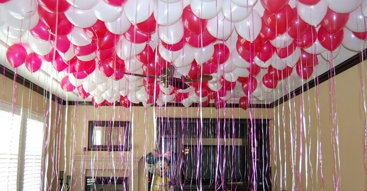 The Room Decoration For a Birthday Party