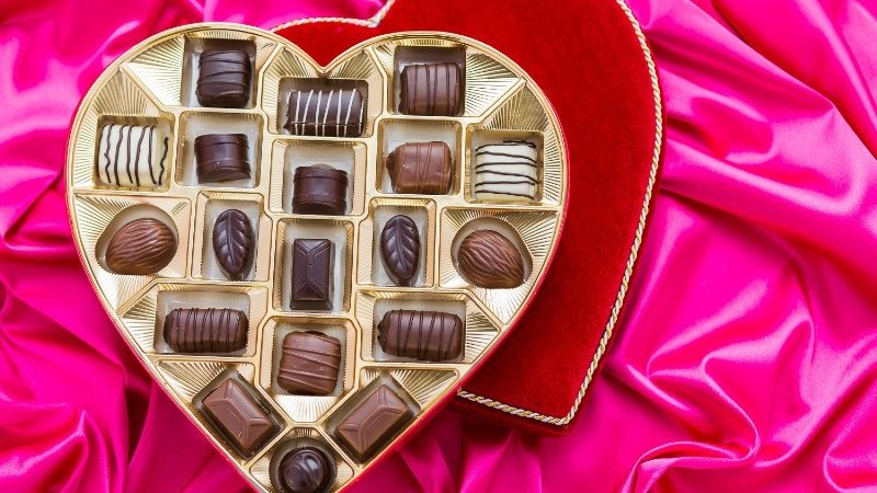 What does chocolate mean on Valentine's Day?