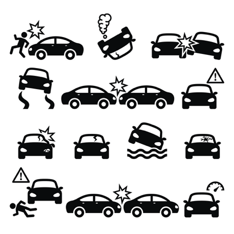 What are the most common types of car accidents?
