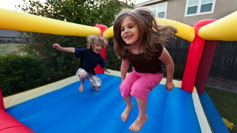 Bounce houses are considered safe as compare to trampolines at parties