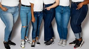 The jeans as per the body type of women